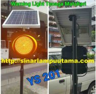 Lampu Warning Light Solar cell 1 Aspek 20cm