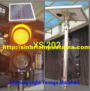 Warning Light Tenaga Surya atau Solar cell 2 Aspek 20cm