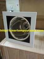 Lampu Downlight Plafon E27 model Kotak