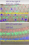 Lampu Hias LED model Tirai Jaring dan Lampu LED Jaring