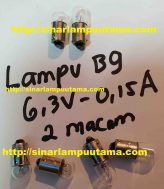 Lampu Bayonet B9 6.3V 0.15A