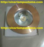 Lampu Downlight Outbow 3 watt Gold mini Slim