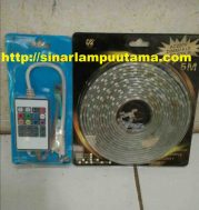 Lampu LED Strip Dimmable 5m 220v Remote