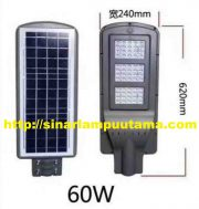 Lampu PJU LED Solar Cell 60 watt