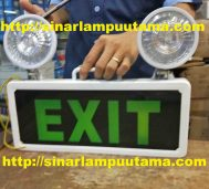 Lampu Emergency Exit + Twin Lamp Mata Kucing