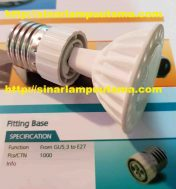 Fitting Lampu Over E27 Ulir ke GU5.3 Tusuk MR16