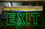 Lampu Exit Emergency LED Bening
