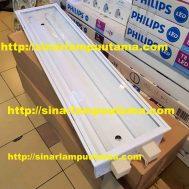 Kap Lampu TL 2×36 watt Konde Cover Acrylic Bening
