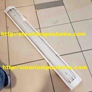 Lampu RM 2×36 watt Grill Kisi Kisi