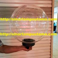 Lampu Taman Bulat Bening Diameter 40cm