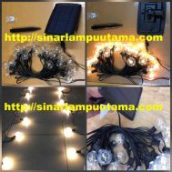 Lampu Gantung Dekorasi LED Solar Panel